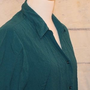 Large 12-14 Teal Front Button Shirt